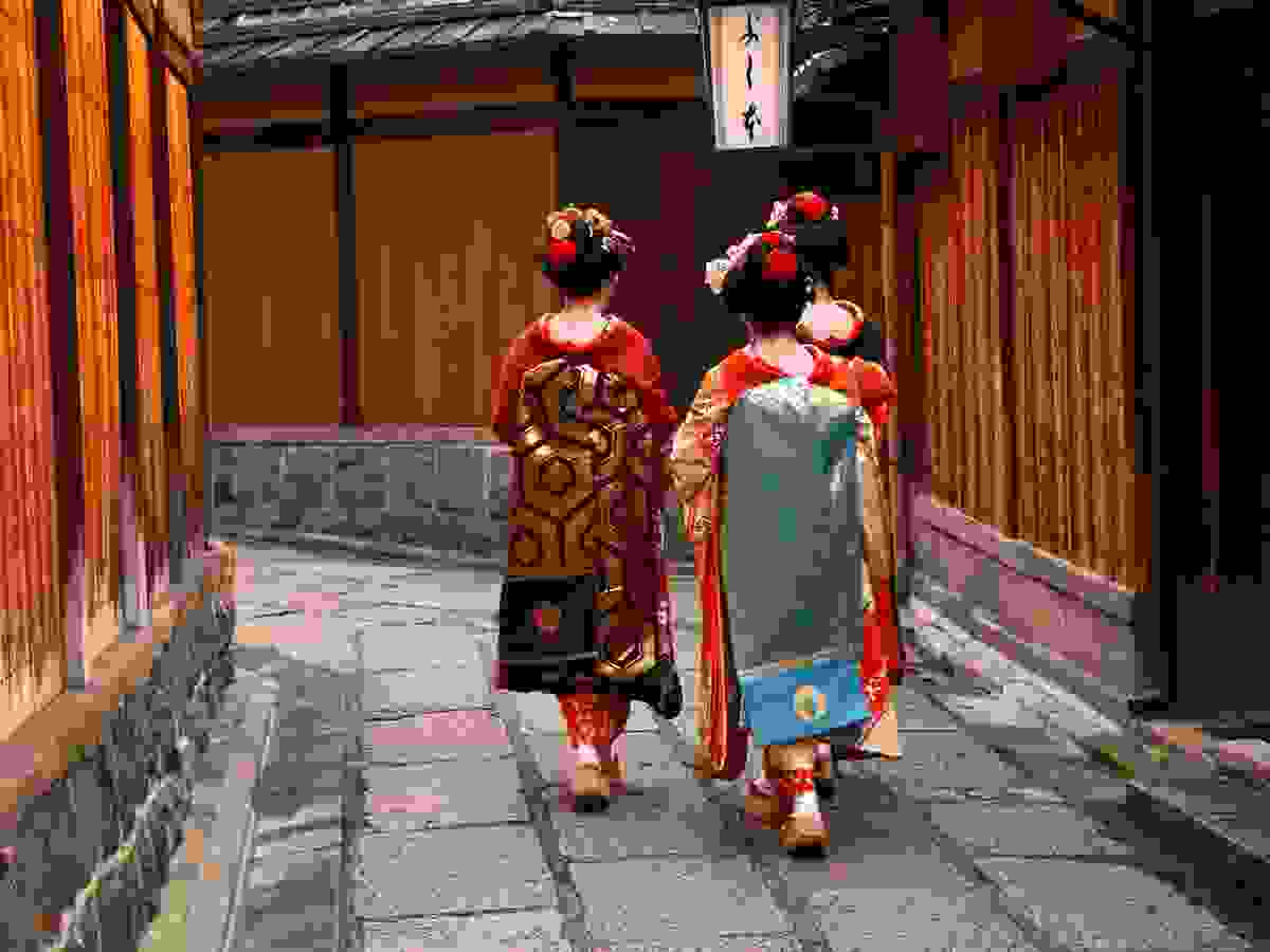 Japanese Geisha district